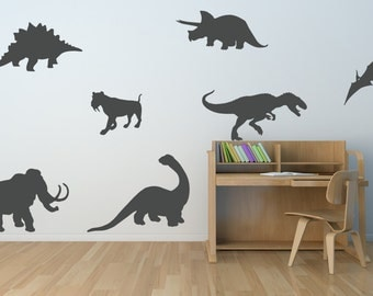 Dinosaur Vinyl Decal Etsy - Custom vinyl wall decals dinosaur