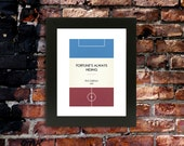 "Book Clubs: ""West Ham"" A4 Football Print in claret, blue and white."