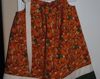 Fall Pumpkin Pillowcase Dress