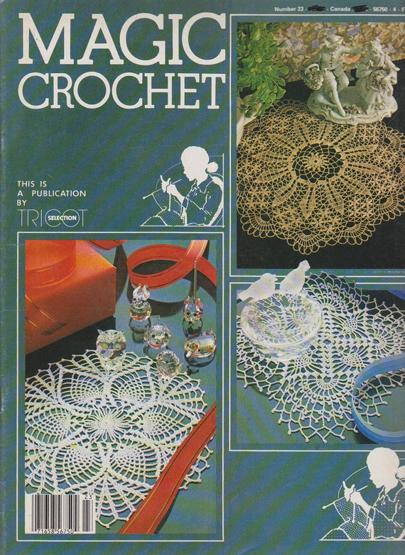 Magic Crochet Magazine Number 23 - Vintage pattern and instruction ...