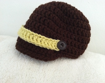 Crochet Baby / Toddler Newsboy Hat / Cap
