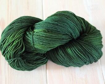 Forest Green Merino Superwash Sock Yarn - Moon Stone Farm