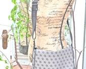 RESERVED FOR CLAUDIA - Vintage Dooney & Bourke Crossbody Handbag - Black Monogram - Free Shipping