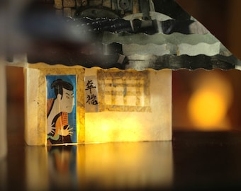 Japanese houses, paper light