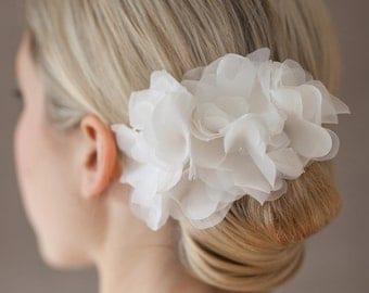 Bridal Silk Flower for the Hair, Headpiece - Lou