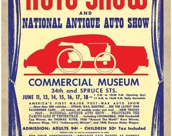 Antique Car Print - 1949 AACA Handbill