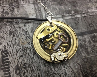 PADLOCK KEY Steampunk jewelry  - necklace-