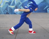 Sonic The Hedgehog inspired boys costume sizes,4-5, 6-8 ,10-12