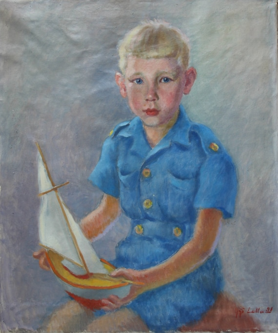 Classic Portrait of Young Boy Oil Painting Fine Art from