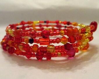 Autumn Blaze wrap bracelet