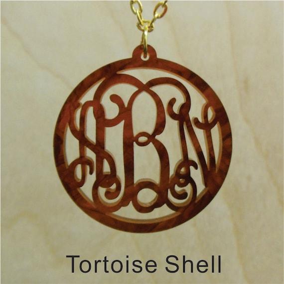monogram jewelry tortoise shell custom handmade fancy
