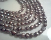 Gray Baroque Cultured Freshwater Pearl Beads  11-12mm 15 inch Strand S2411