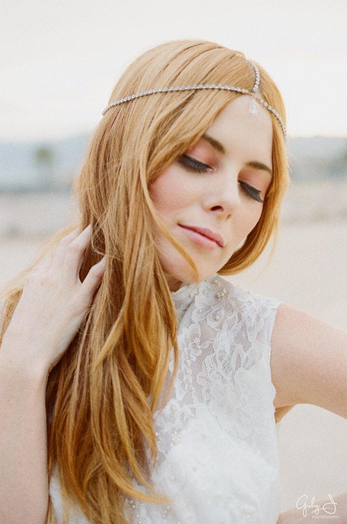 Etsy Chain Headpiece Hair Chain Headpiece Crown