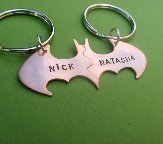 Batman Best Friend key chains in COPPER Friendship Personalized keychains