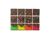 Airport Signs - Cute Mini Stationery Set: Square Tiny Envelopes with Color Blank Note Cards