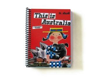 This is Australia Writing Journal, Diary, 5x7 Inches Notebook, Blank Sketchbook, Travel Gift, Spiral, Travelers, Blank, Cute, A5, Handmade