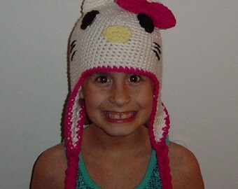 Kitty Earflap Hat with Braids
