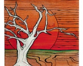 The Tree Watches the Sunset - Archival Print