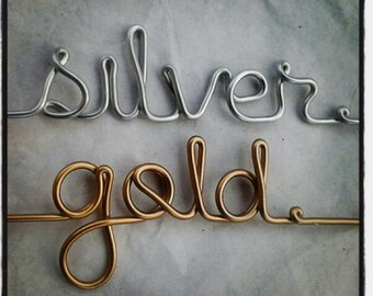Gold or Copper Blush Writing on Wedding Hanger Personalized Custom Bridal Hanger GOLD Lettering