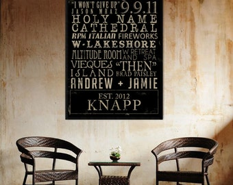 "Personalized Family Name Subway Sign ""ELITE"" Series Canvas art personalized Words and phrases wall art 24x24"