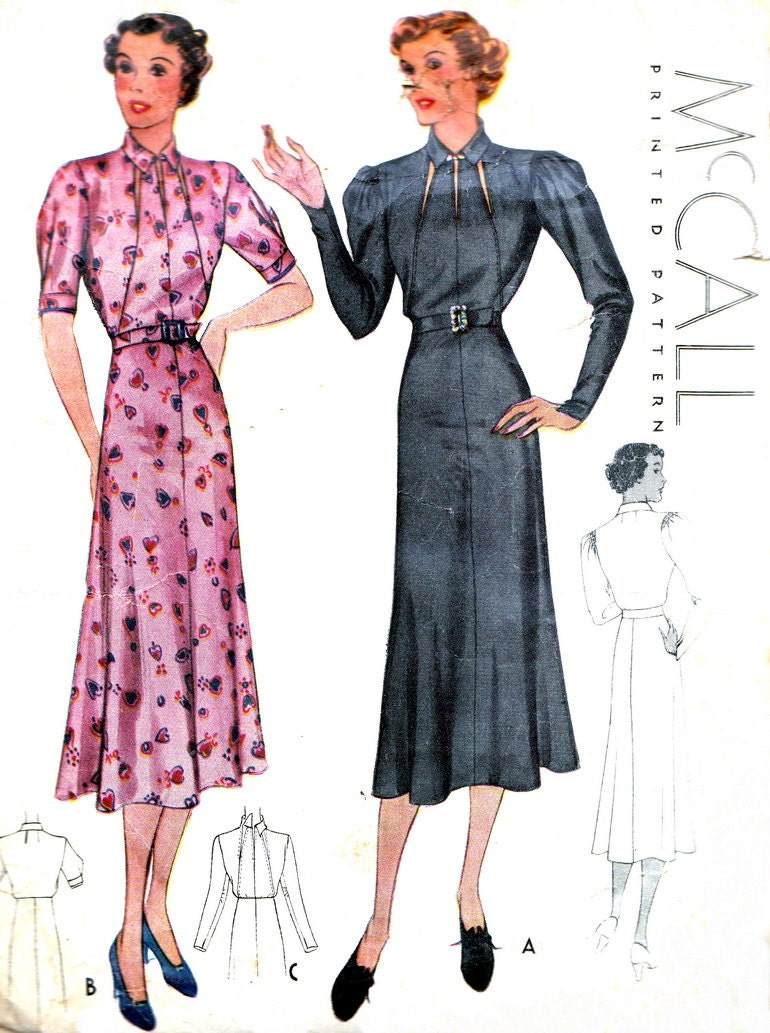 1930s Dress Pattern McCall 9074 Gored Skirt by ...