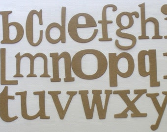 "WORD PLAY  FONT --  Raw CHiPBOARD Alphabet Letters Bare Die Cuts - 1"" - 1.5"" in Size - 72 Pieces"
