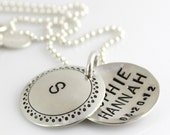 Personalized Locket - My Sweet Baby hand stamped and personalized sterling silver faux locket