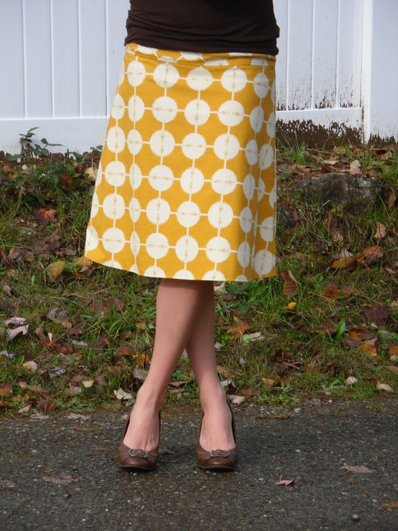 mustard yellow a line skirt ultra soft by
