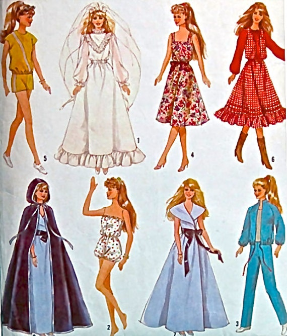 Vintage Doll Clothes Patterns Vintage Barbie Doll Clothes