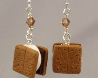 Miniature Food S'mores Earrings