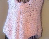 HANDMADE Cotton Candy Shawl with a Brooch Crochet/ hand knit with handspun angora bunny yarn, Knit lace shawl, Ready to be shipped TODAY