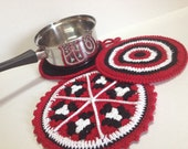 Pot Holders Crocheted in the colors of your choice - set of 3