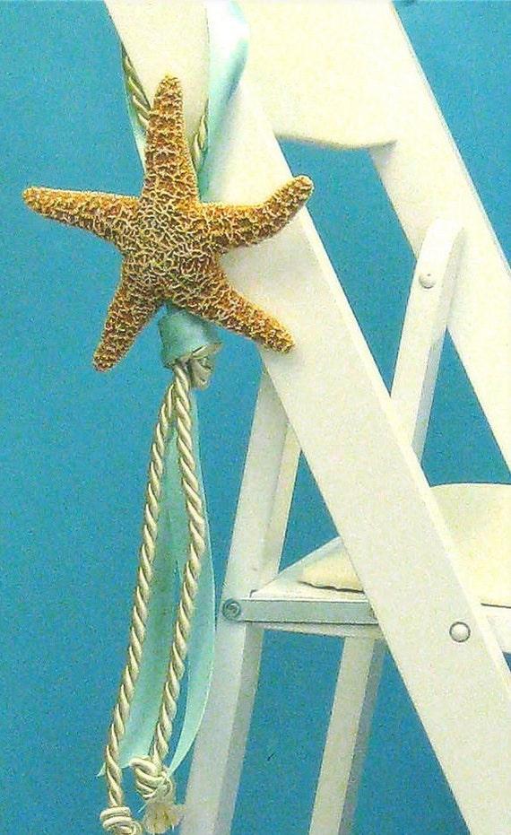 Items similar to beach wedding starfish chair decoration for Beachy decor items
