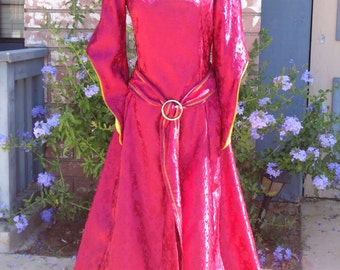 Mother Gothel Costume Womans Adult sizes 2-14 Evil Villain Mother Gothel from Tangled Rapunzel Medieval dress from the Middle Ages