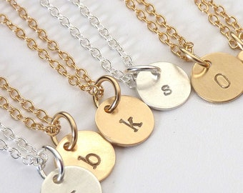 Initial Charm Necklace, Gold Initial Necklace, Mommy Necklace, Gift for her, Monogram, Gift under 40, Personalized Jewelry by m. frances