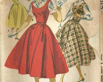Vintage 50s Sewing Pattern // McCalls 3357 // Dress Blouse Jumper // Size 13