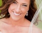 Crystal Wedding Earrings. Teardrop Wedding Earrings, Swarovski Wedding Jewelry
