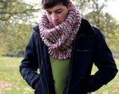 Men's Cowl Neck Scarf Chunky Oversized Cowl Neckwarmer Fall Winter Accessories