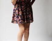 vintage 1970s dress / 70s floral dress / My Secret Garden Floral Dress