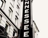 Tennessee Theater Sign - Fine Art Photograph - Wall Art - Knoxville - Historical Marquee