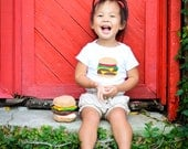 Hamburger Onesie, Funny Baby Gift, Foodie Gifts, Burger Shirt, Cheeseburger Onesie, Felt Food, Baby Bodysuit, Baby Boy Clothes