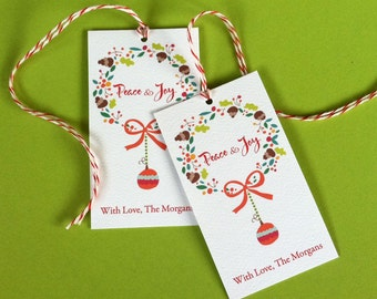 Personalized Christmas Tags, Holiday Tags, Christmas Tags, Gift Tags, Set of 20