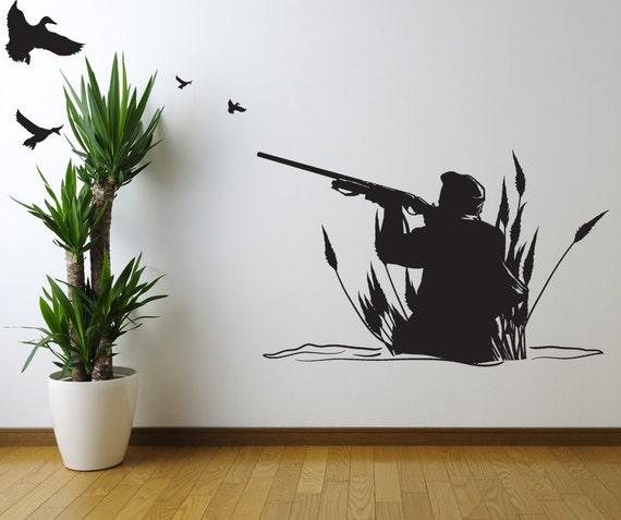 vinyl wall decal sticker duck hunter gfoster173a duck elli wall sticker wall art com