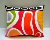 Color Me Abstract Pillow - 13X16 Hand Painted Modern Contemporary Bold Colors Home Accent - PAINTEDPILLOWS