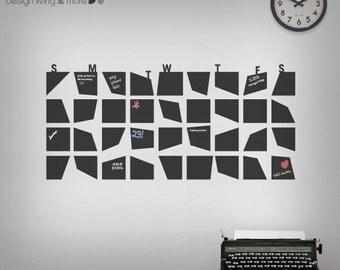 Chalkboard Wall Calendar - Chalkboard Wall Decal for your Home / Office - Chalkboard Planner - 0098