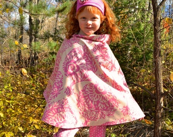 Anna Maria Horner Girls Wool Poncho Cape Pink Size 6