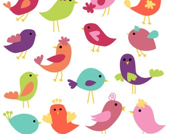 Birds Clip Art Birds Clipart - Commercial Use