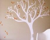 Tweet Tree Wall Decal - Birds tree decal - Kids Room Wall Decor