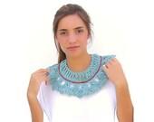 ON SALE. 30% OFF. Crochet collar- pelerine  Cambridge Blue color. Lacy collar.