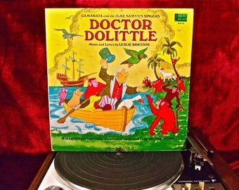 CAMARATA - Doctor Dolittle - 1968 Vintage Vinyl GATEFOLd Record Album...includes Full-color Illustrated Insert Booklet